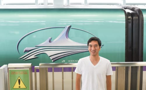 The Hokkaido Shinkansen.