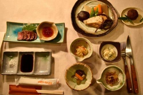 Dinner at Yamanosato Minshuku and Farmer Restaurant