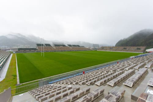 The Kamaishi Unosumai Memorial Stadium.
