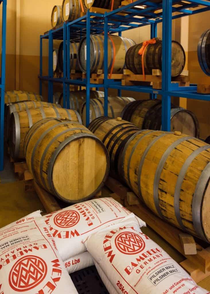 Japanese wooden barrels for sake and beer