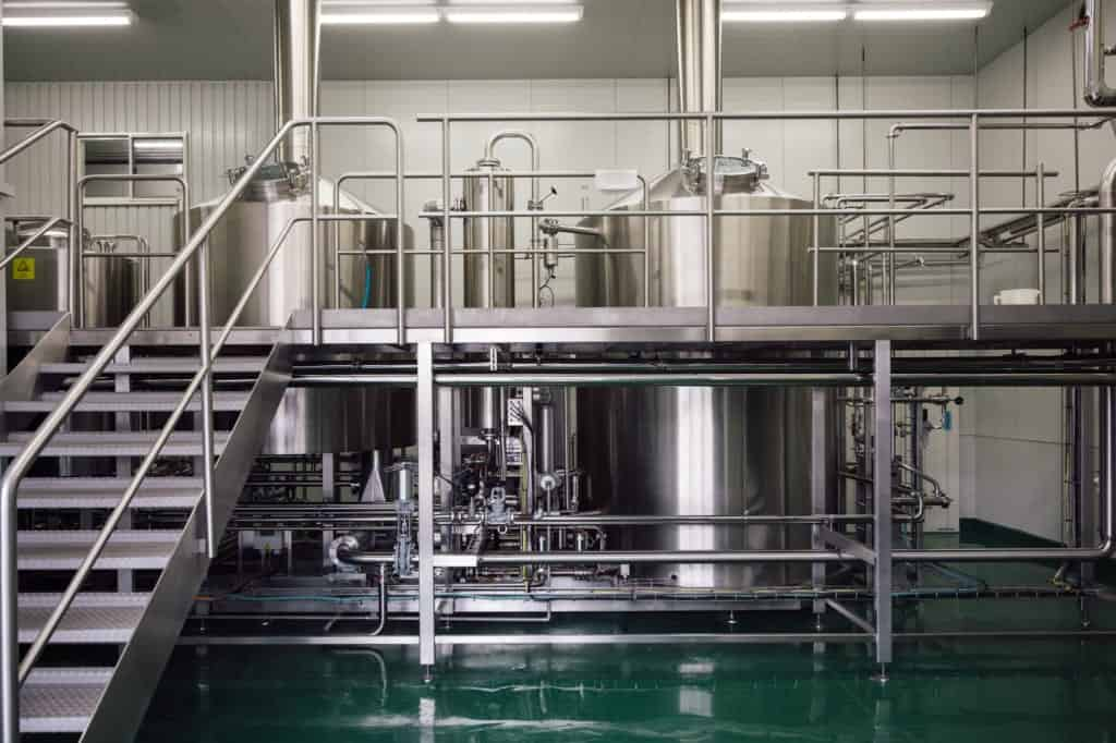 inside a Japanese sake microbrewery in Japan