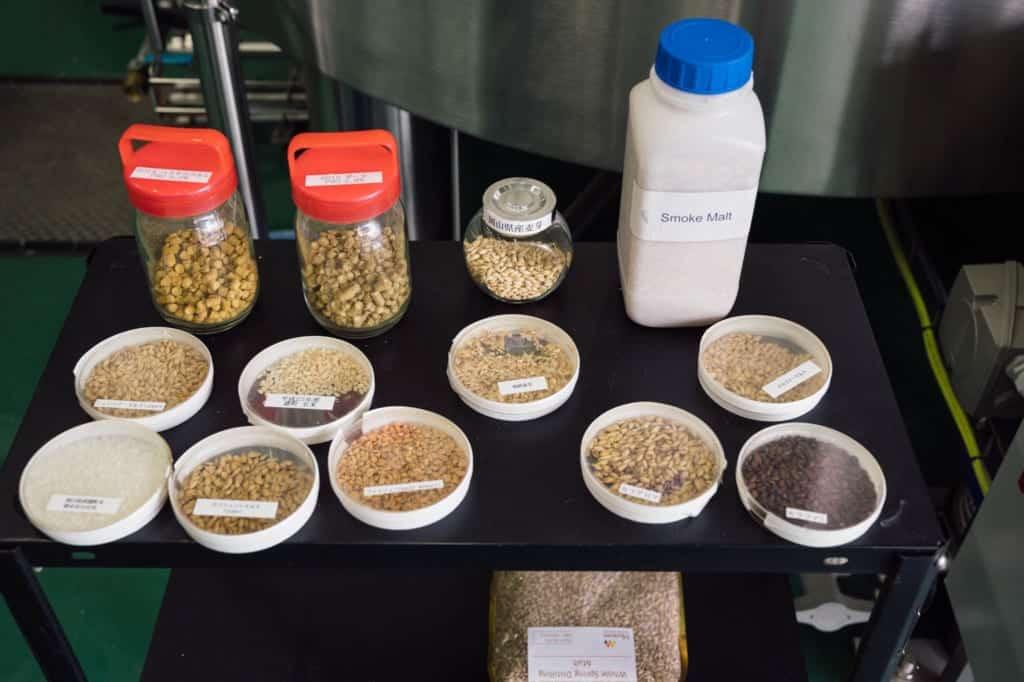 grains used for Japanese sake