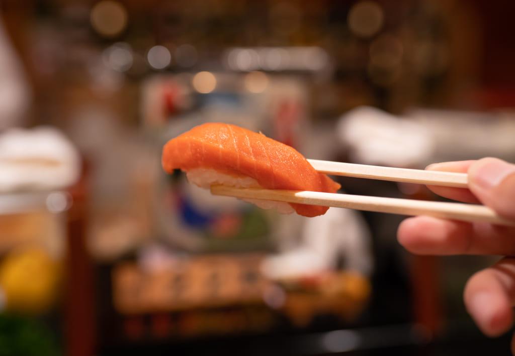 Sushi in Hakodate City.