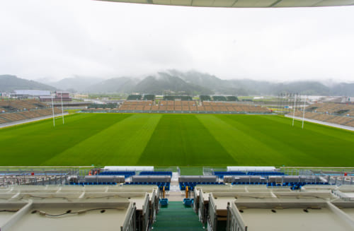 The Kamaishi Unosumai Memorial Stadium.