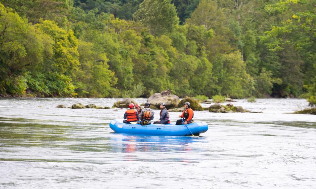 River rafting in Niseko.
