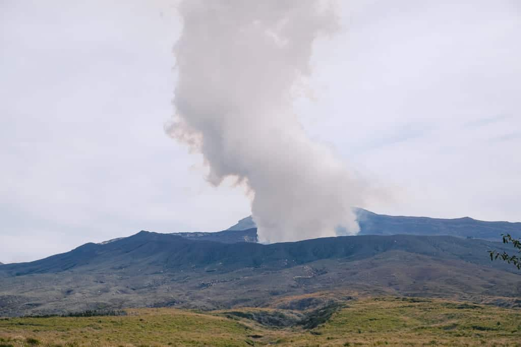 Aso Mountain Eruption in Kumamoto