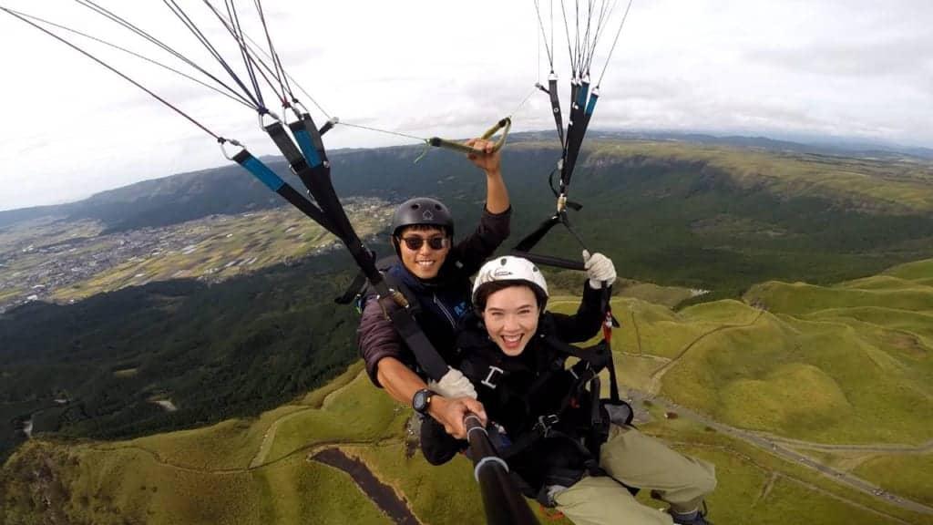 Paragliding in Aso, Kumamoto