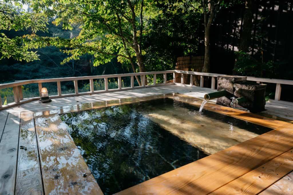 Yuka Onsen in northern Kumamoto, Kyushu, private onsen bath