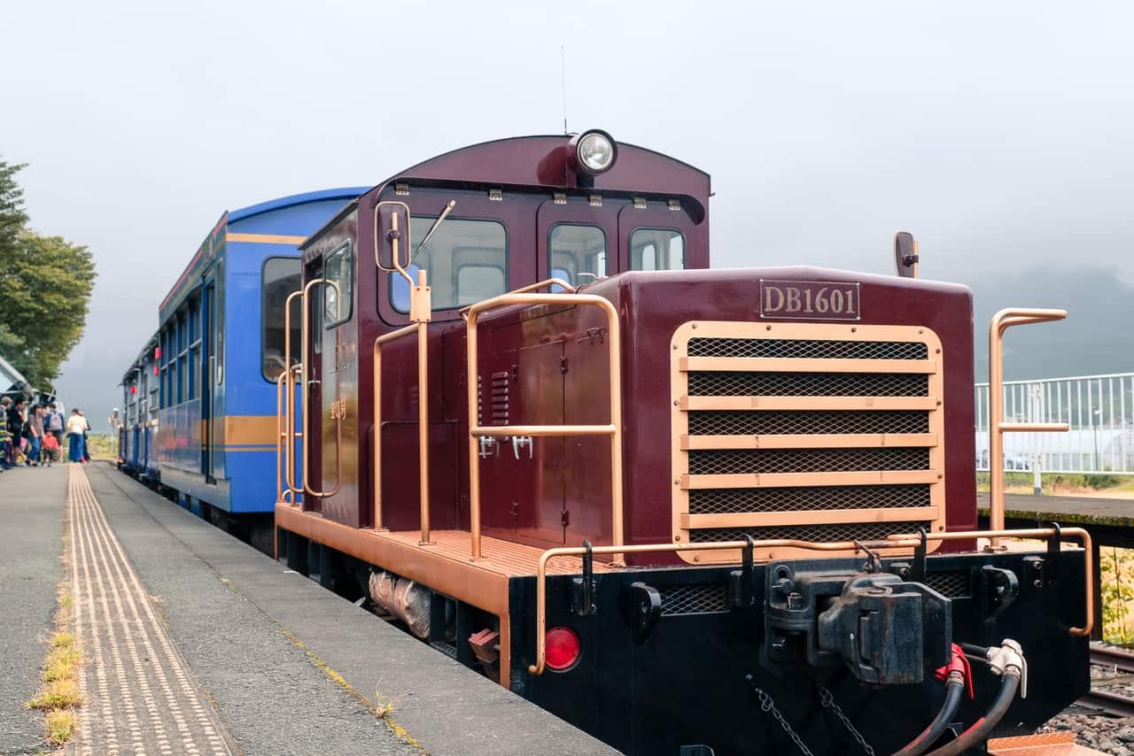 Explore the Mount Aso region through Takamori Trolley Train, Dengaku Miso and the nearby Nishihara Village
