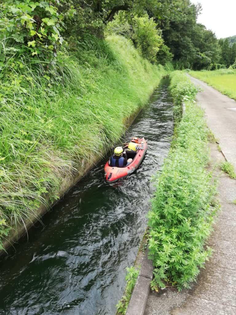 IDEVENTURE - Kayak adventure in irrigation canals in Kikuchi, Kumamoto