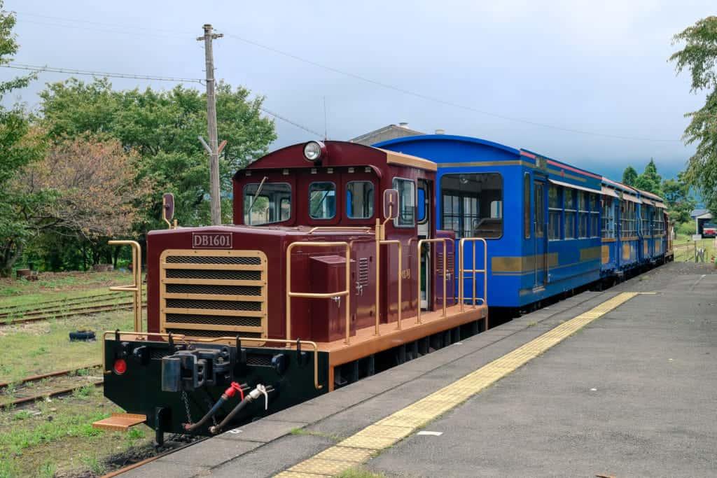 """Torokko"" Trolly Train of South Aso in Takamori, Kumamoto"