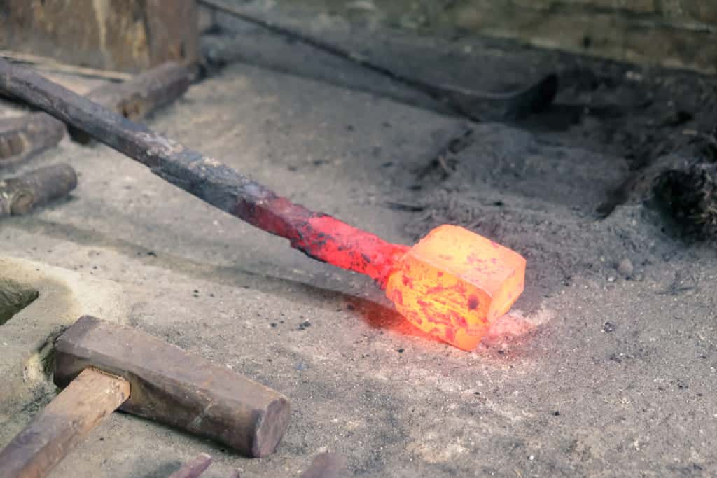 red hot iron for Japanese sword