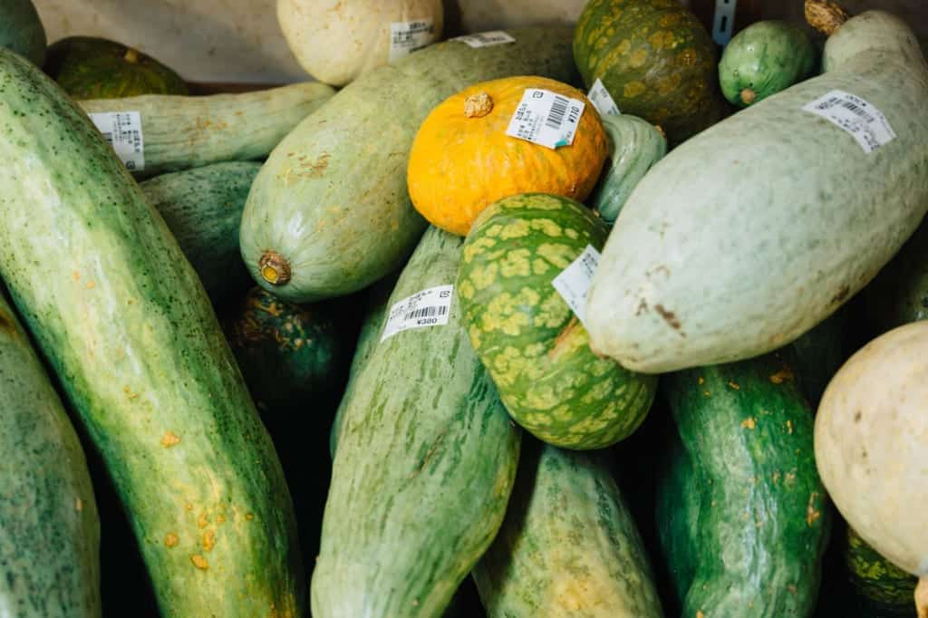 Local produce in Iiyama, Nagano