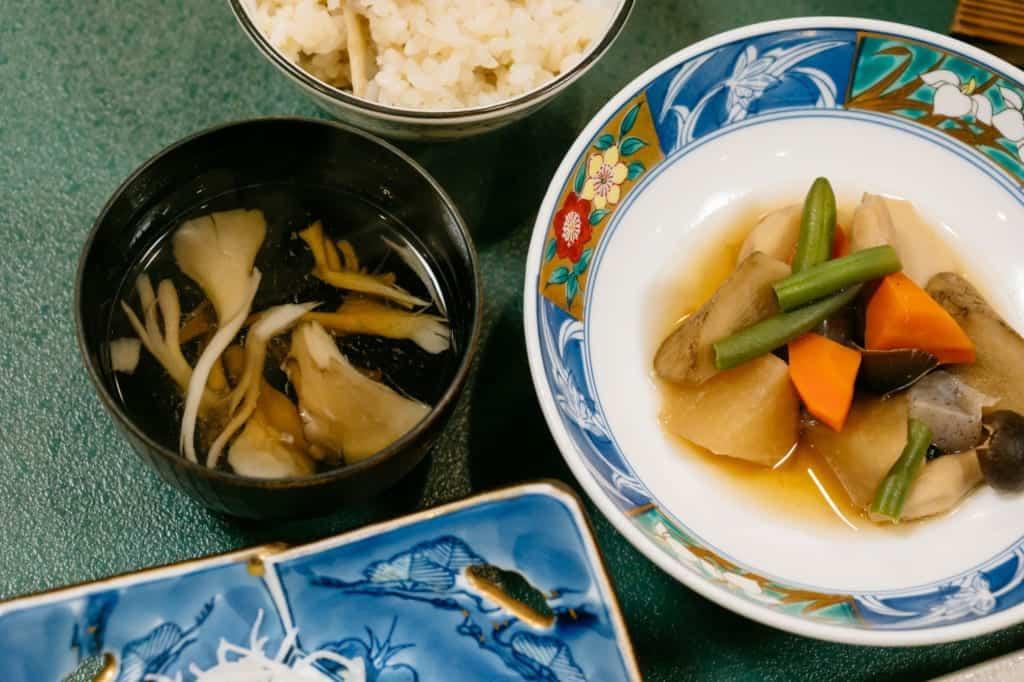 Dinner at Kanoe Lodge in Iiyama, Nagano