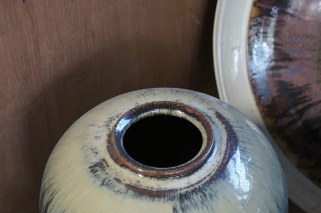 Big Shodai Yaki pottery vase made my Mr Yamaguchi