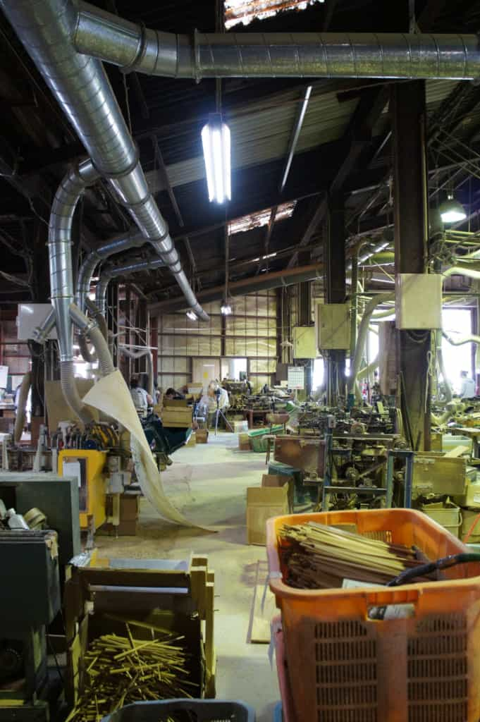 Inside the Yamachiku factory