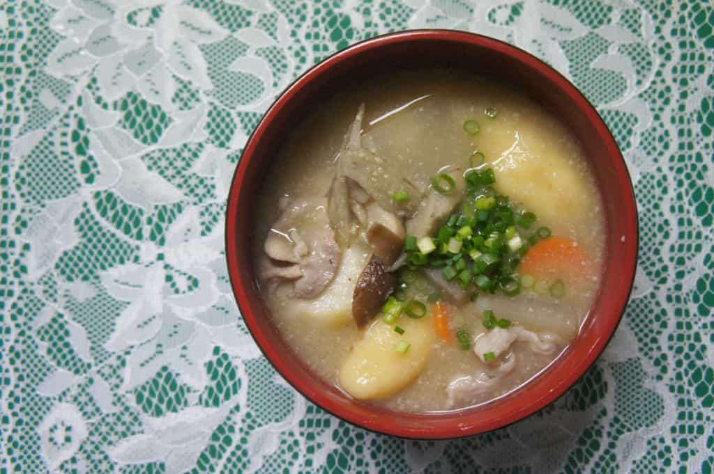 Miso soup bowl with ohimesan