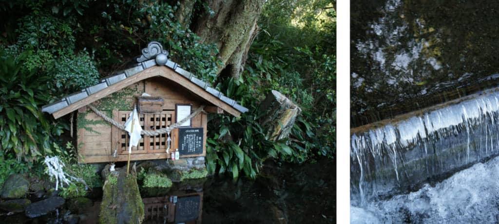Local spring in Kikuchi, kept by a small shrine