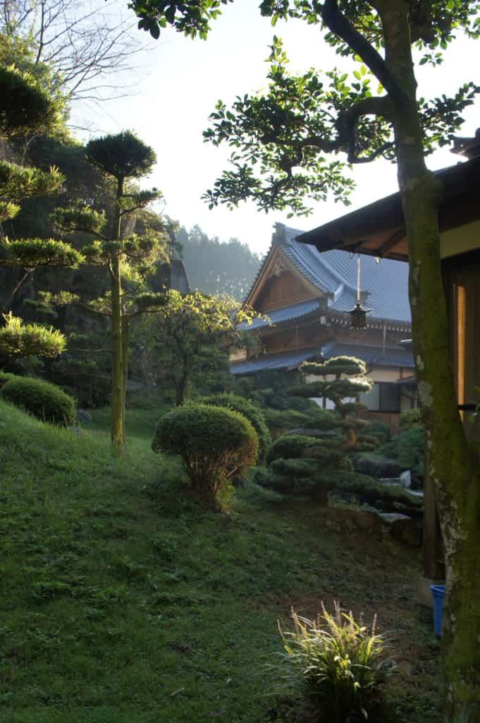 View of Zenriyuji temple from the Japanese garden