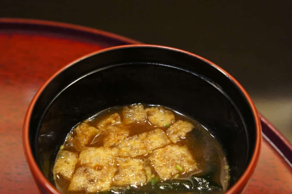 Age, in a bowl of miso soup