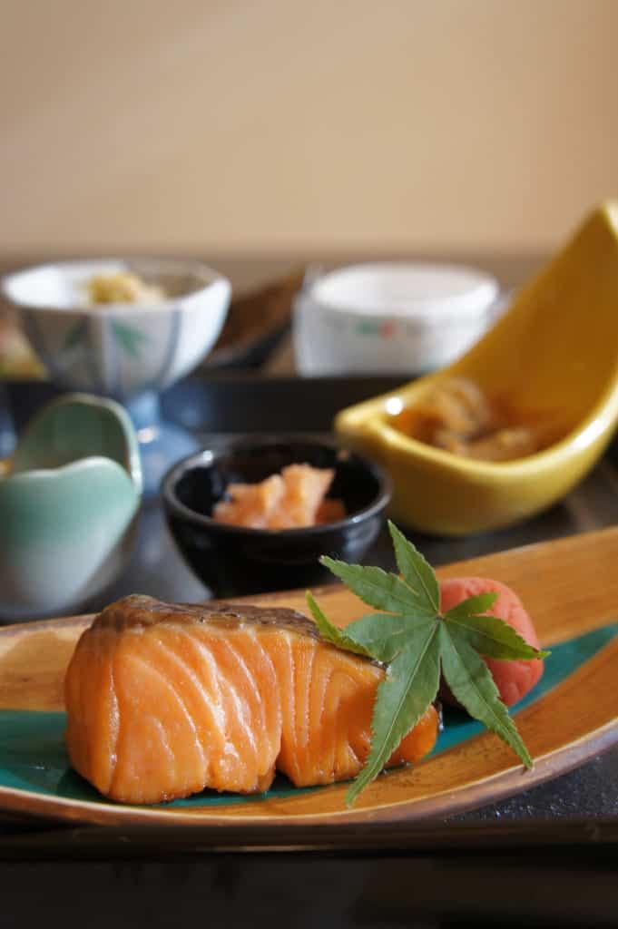 Salmon on the breakfast table