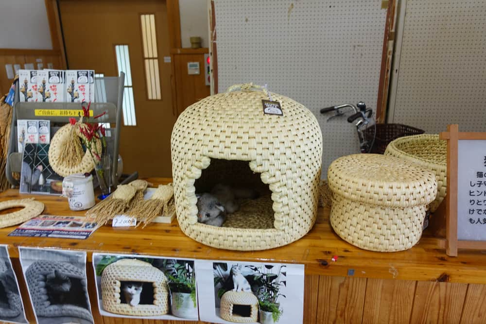 A neko-chigura on display in Sekikawa Village.