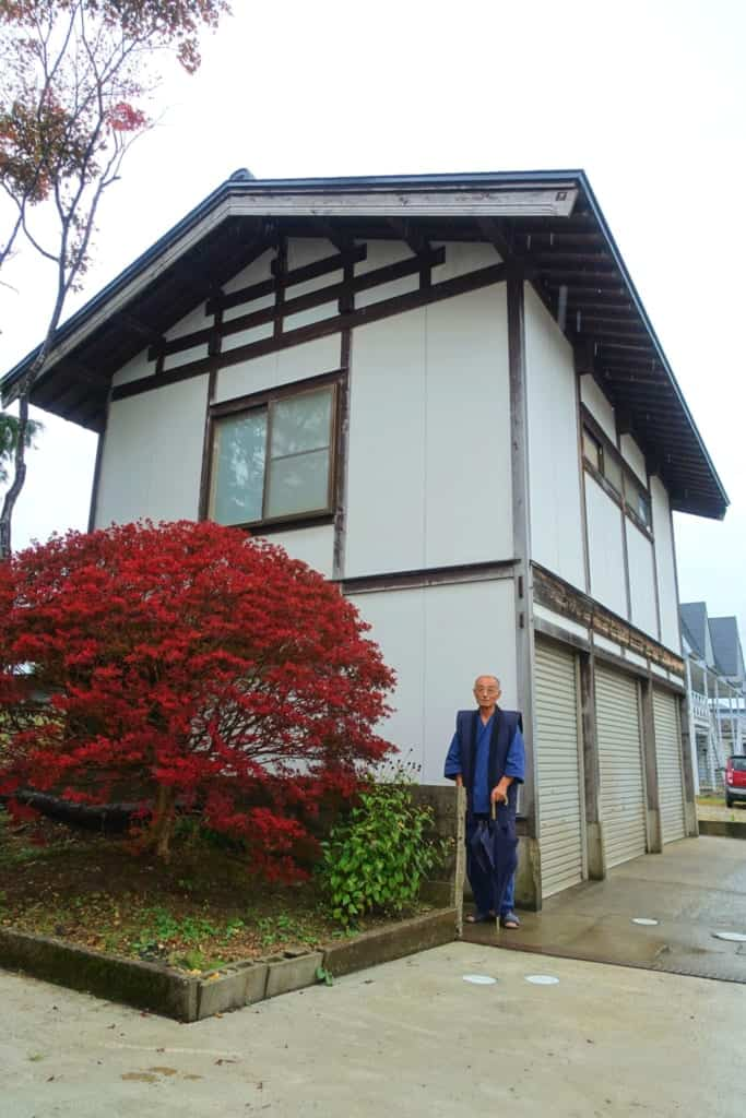 The Shunpu-Kan kites workshop and its owner, Mr. Ono, in the city of Yuzawa, Akita prefecture