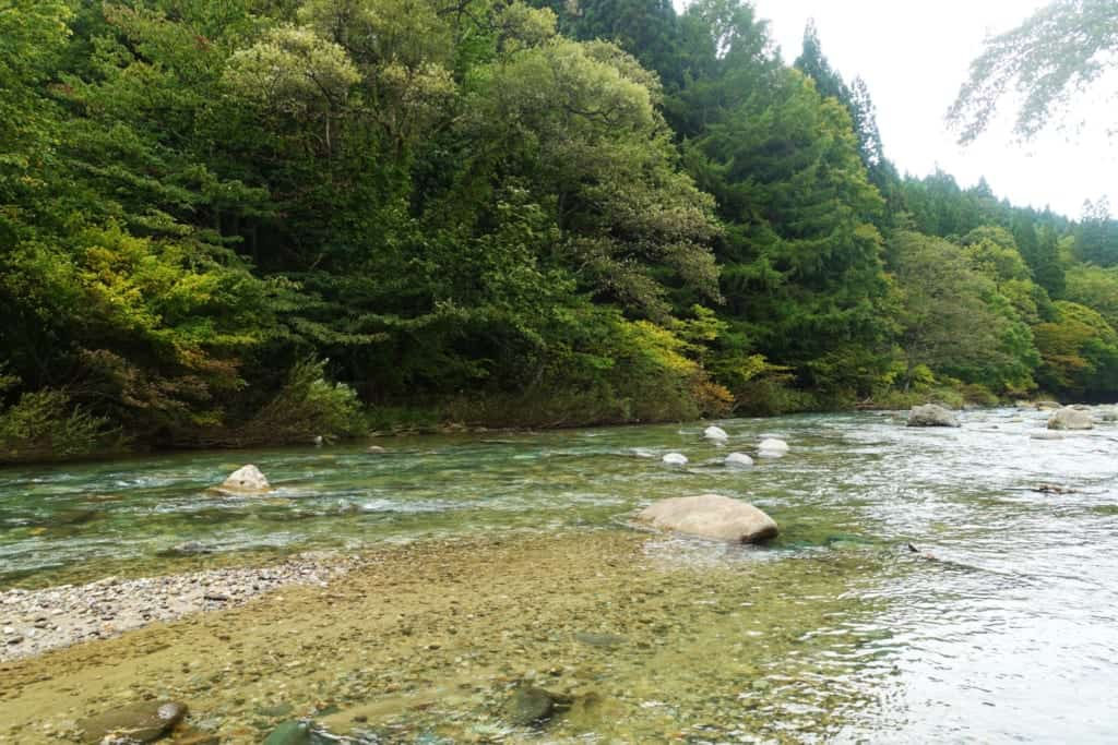 Kawara No Yukko River at Yuzawa in Akita Prefecture