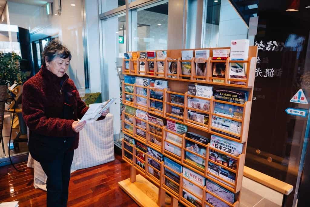 Brochures at Iiyama Tourism Center