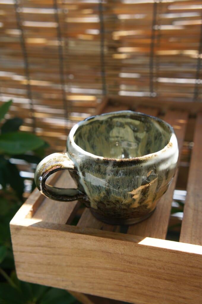 Mug realised during a workshop of Shodai Yaki pottery at Issakigama