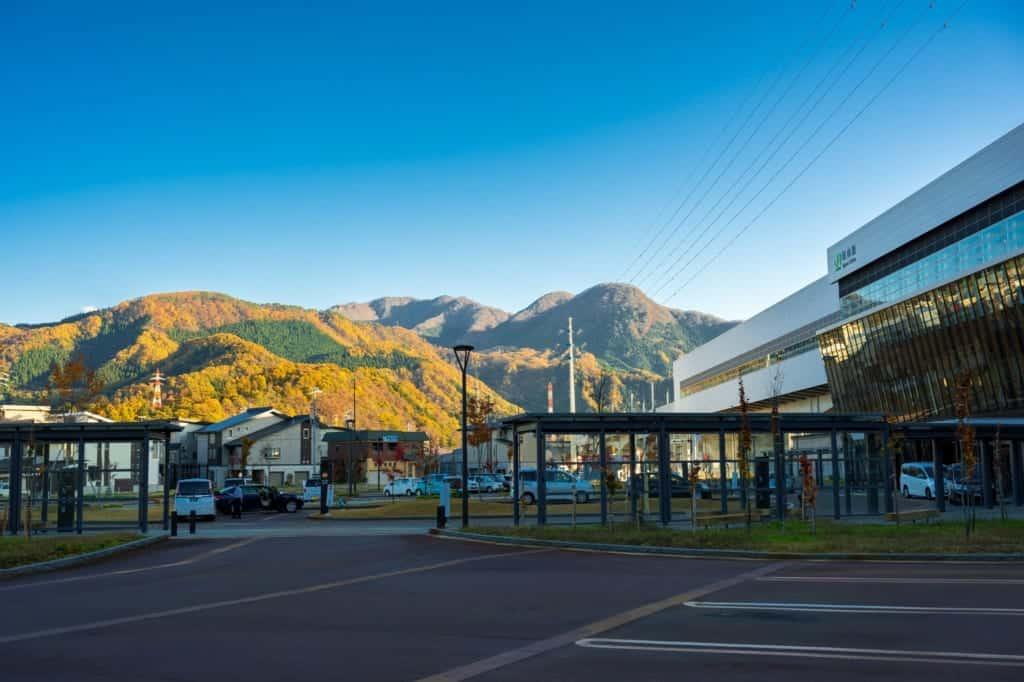 View of JR Iiyama Station