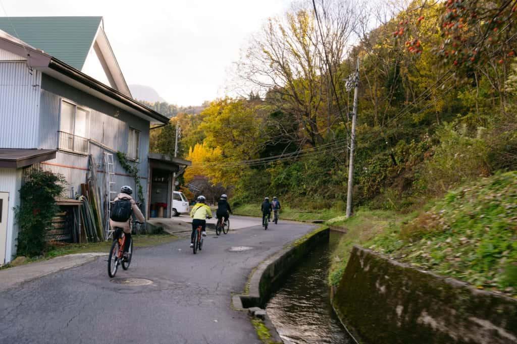 Riding through the villages around Iiyama