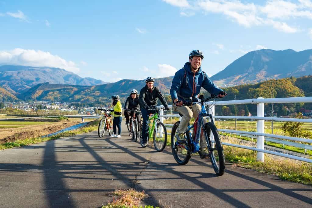 Cycling tour around Iiyama City, Nagano