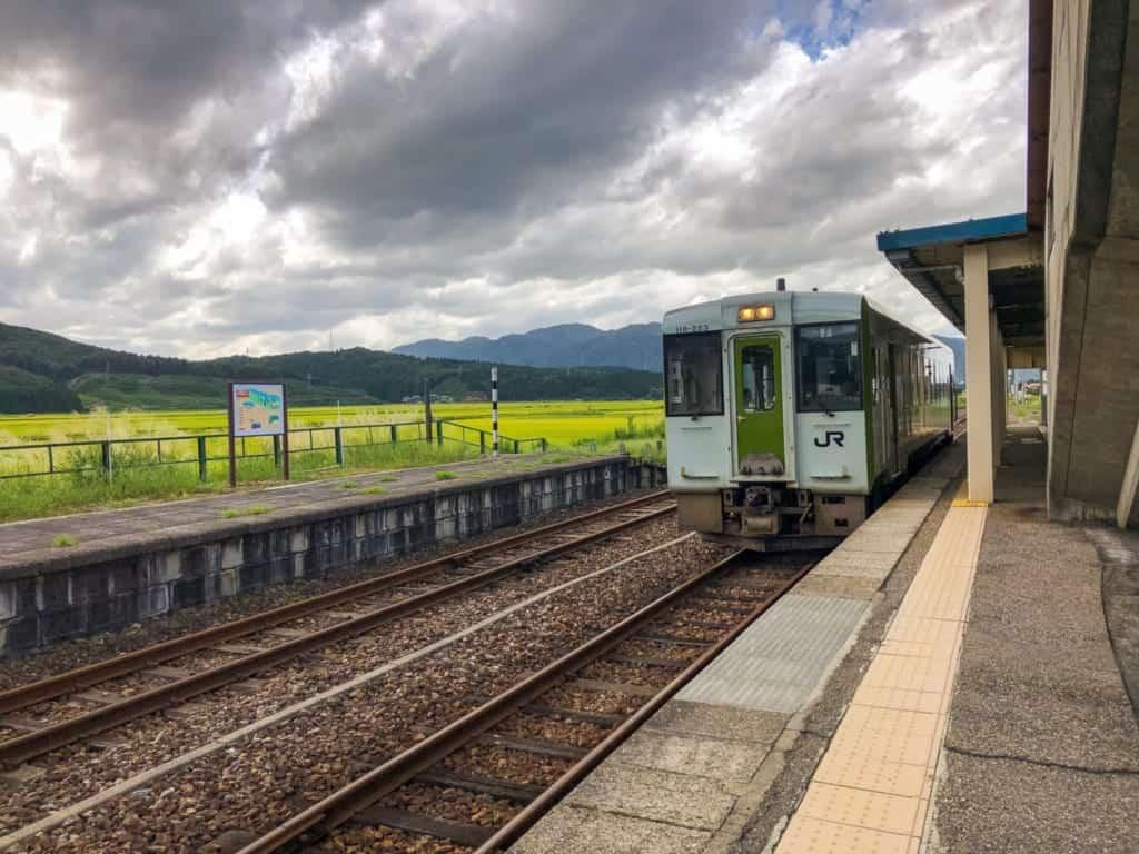 It takes about 4 hours from Tokyo to Echigo-Shimoseki station, Niigata.