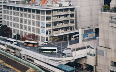 Aerial view of Hiroshima Bus Terminal