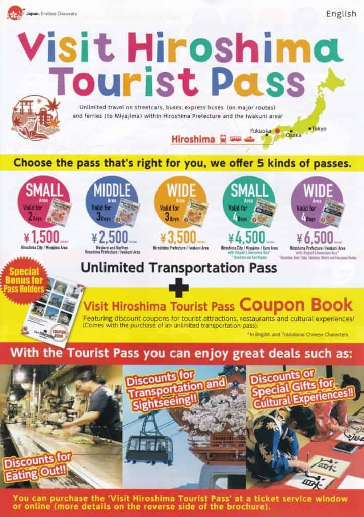 Visit Hiroshima Tourist Pass brochure