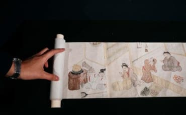 A sample scroll exhibit at Miyoshi Mononoke Museum