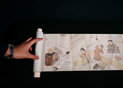 A sample scroll exhibit at Miyoshi Mononoke Museum