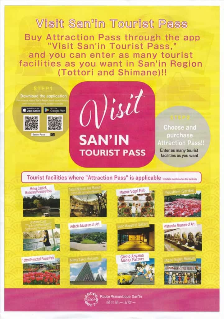 The Visit San'in Tourist Pass brochure