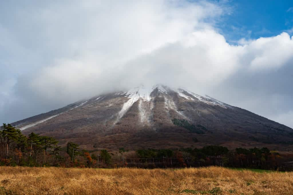 Mt. Daisen partially obstructed by clouds