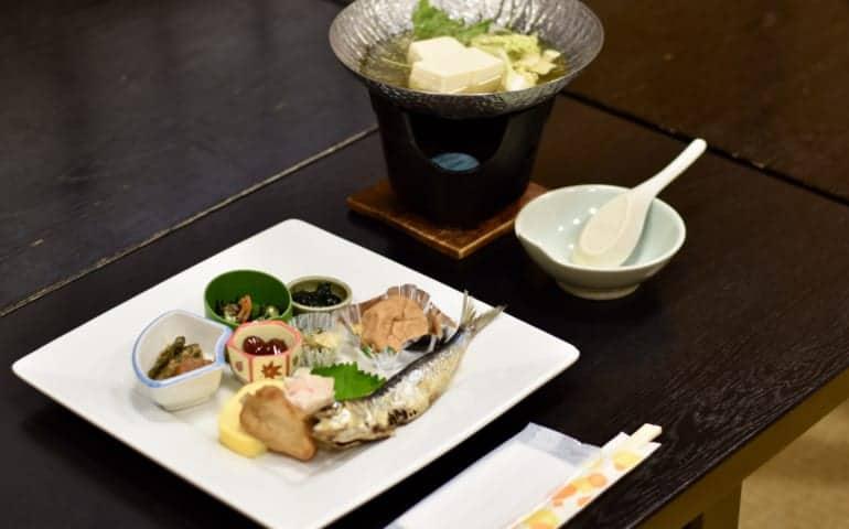 Breakfast at Ikenoyamasou Ryokan, Fukuoka Prefecture