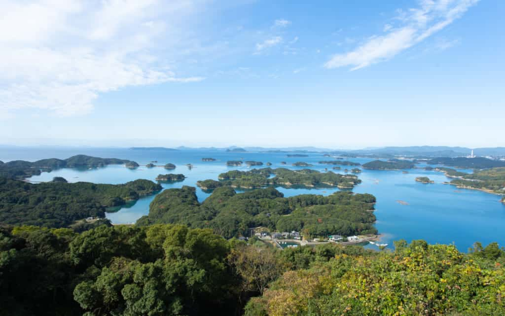 The 99 islands of Nagasaki.