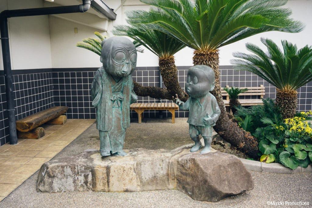 Nonnonba sculpture outside the Mizuki Shigeru Museum.