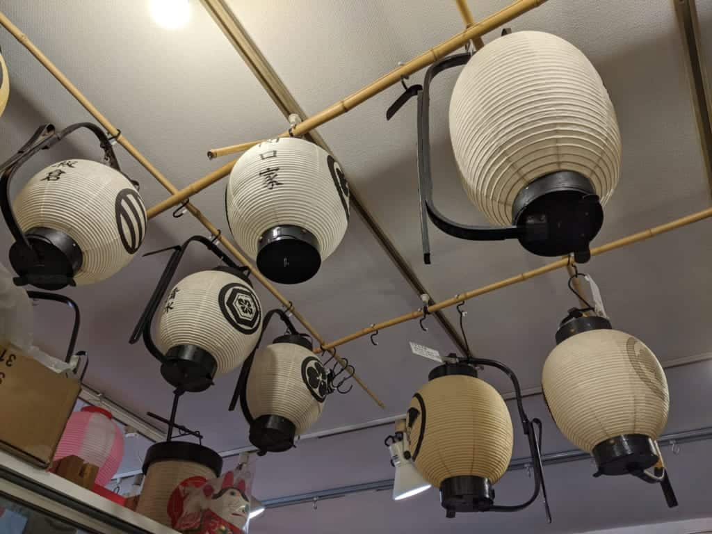Traditional Japanese Chochin Lanterns in Matsudo City