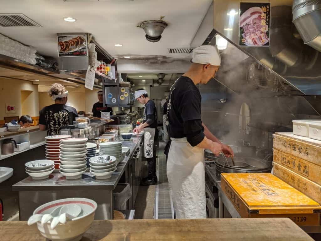 Inside of a Ramen Shop in Matsudo City