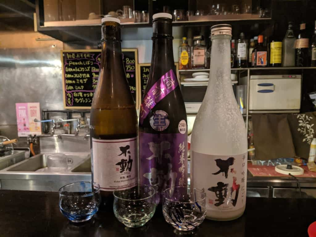 A Selection of Sake in Kashiwa