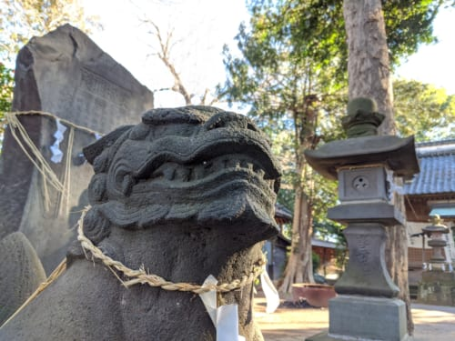 Guardian Statues at a Shrine in Nagareyama