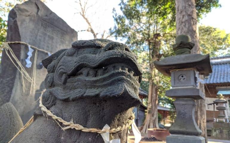 Guardian Statues at a Shrine in Nagareyama