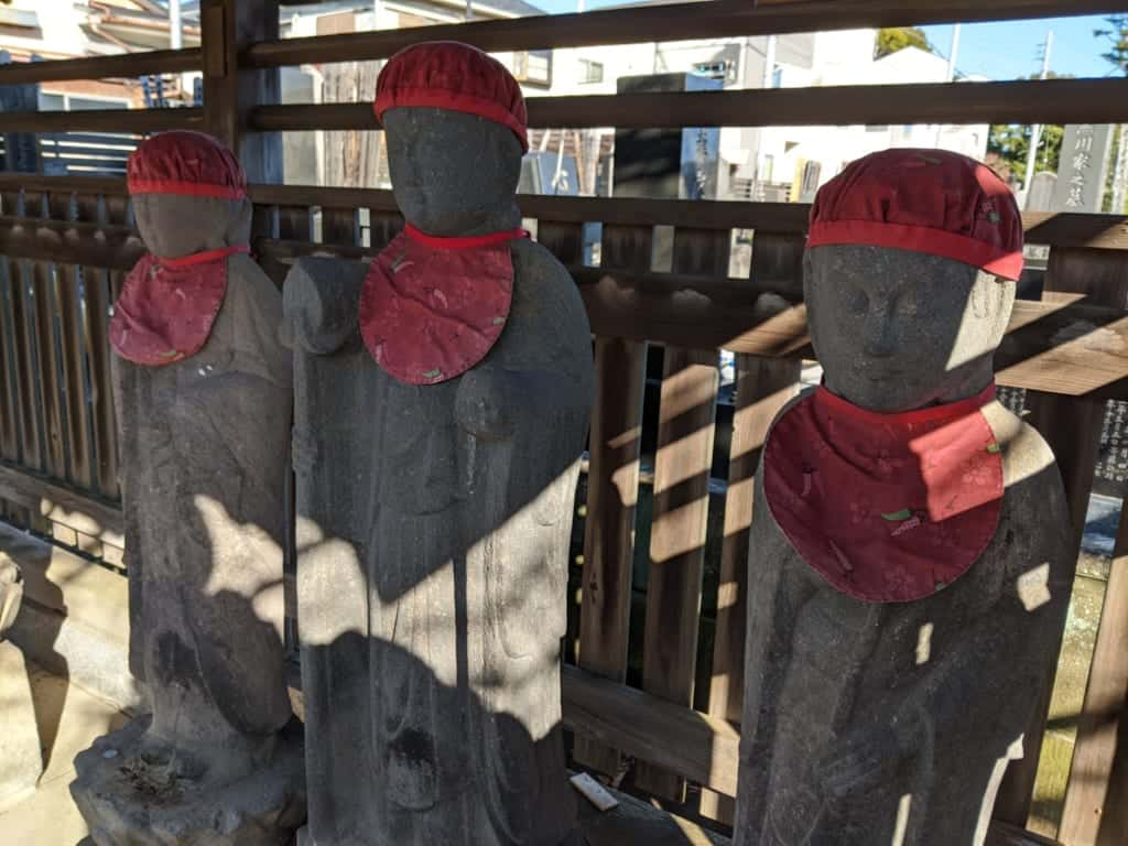 Statues iat a Shrine in Nagareyama