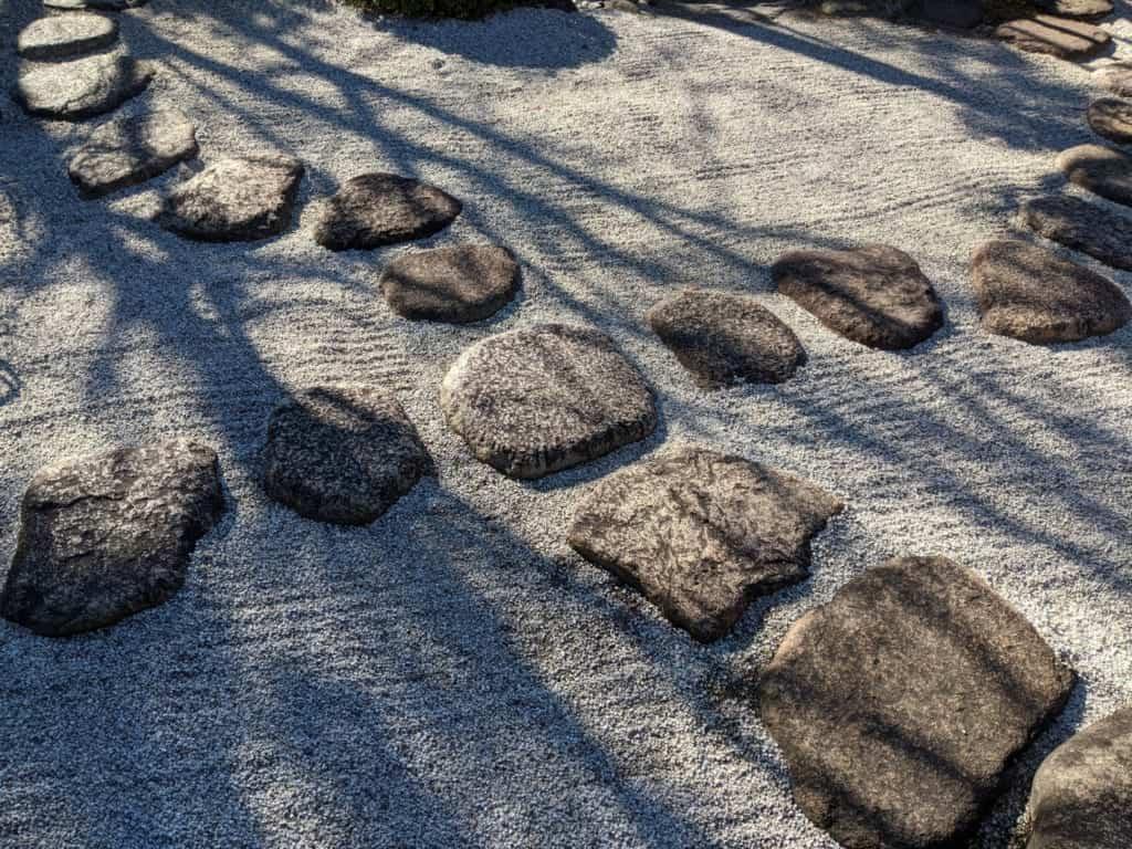 Japanese Rock Garden in Nagareyama